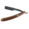 Wood handle black stainless steel disposable blade barber shaving razor