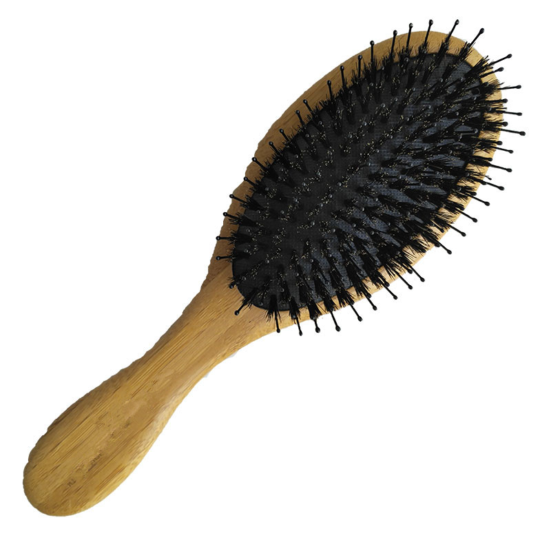 Wood Handle Natural Boar Bristle Hair Brush